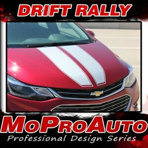 Drift Rally Chevy Cruze Racing Stripes 2016 2019 Hood Vinyl Graphics Decals Kit