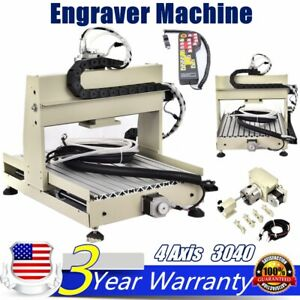 4 Axis 3040 Cnc Router Drill Cutting Engraving Machine Metalworking