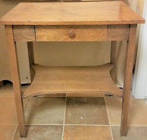 Wonderful 1930 S Mission Stickley Style Washstand Or Table With Drawer Nice