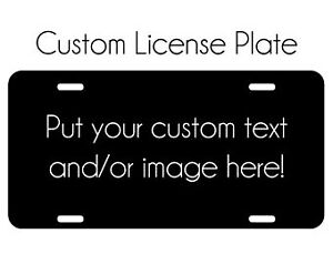 Customize Your Own License Plate Aluminum Auto Tag