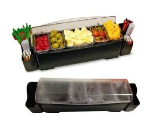 Co rect Products Cc0006 Five Compartment Roll Top Condiment And Garnish Station