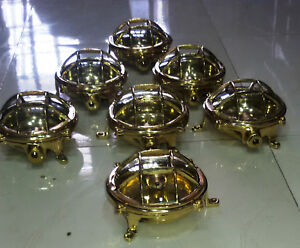 New Nautical Marine Brass Ceiling Light Set Of 10 Pieces T1