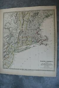 1832 Sduk Map Of New Jersey New York And New England