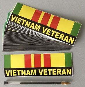 Vietnam Veteran 6 X 2 Bumper Sticker In Stock Now And Ships Free