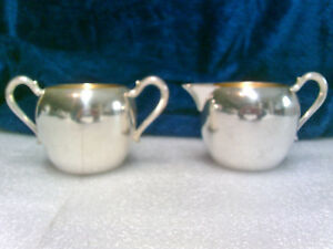 Vintage Cream And Sugar Set Wallace Silver Plate 8647