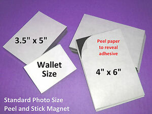 25 Self Adhesive Flexible Magnetic Sheets Wallet Size Usa Made Free Shipping