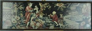 French 18th Century Toile On Silk Chinese Scene Bi Mk 0317 Tmp