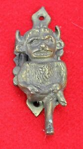 Antique Bronze Brass Door Knocker With Devil 4 Tall Bi Mk 180529