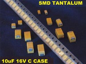 Smd 10uf 10 Uf 16v C Case Tantalum Capacitors 3000 Pcs New