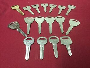 Honda By Curtis Ilco Automotive Hd82 Hd101 Key Blanks Set Of 17 Locksmith