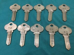 Sargent By Curtis Ilco S16 Keyway Key Blanks Set Of 10 Locksmith