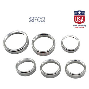 6x Silver Air Conditioner Audio Switch Knob Ring Cover Trim For Ford F 150 15 18