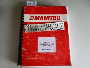 Manitou Forklift Mt523 Mt523t Mono Ultra Series B e3 204734 Up Parts Manual