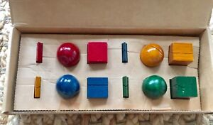Colored Wood Place Card Holders Kriss Olsen 1992 Moma Museum Of Modern Art