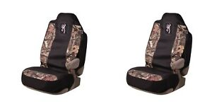 Browning Pair Universal Fit Camo Seat Covers Mossy Oak Camo Pink Black Car Truck