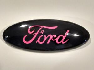 2004 14 F 150 Black Pink Logo Ford Oval Emblem Mint Part 9 By 3 5 Inch