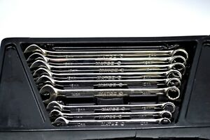 Matco Tools Combination Long Metric 12 point Box open End Wrench Set Smclm102