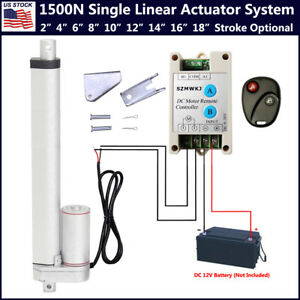 1500n Linear Actuator 2 18 Electric Motor Remote Controller 12v Dc Auto Lift