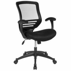 Flash Furniture Mesh Mid Back Swivel Executive Office Chair In Black
