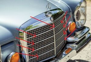 Fit For Mercedes Benz W111 W112 Grill Moulding Trim Set Of 11 Alu 220 220s 220se