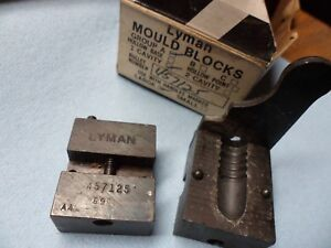Vintage Lyman 457125 single cavity bullet mold used 2 times woriginal box
