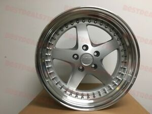 Four 18x8 5 Silver Equip Style Rims Fits Honda Accord Civic Si 5x114 3
