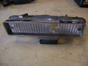 1968 Chrysler Imperial Lh Front Turn Signal Housing Lens Lebaron Crown