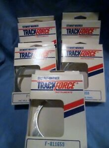 Stewart Warner Track Force 1 Hole 2 5 8 Mounting Panel F 811659 Lot Of 5