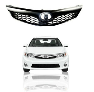 For 2012 2013 2014 Toyota Camry Se Xse Front Upper Bumper Grill Grille Black