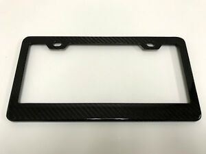 1x Handmade Real Carbon Fiber License Plate Frame Tag Cover 3k Twill For Porsche