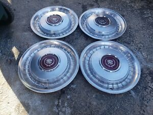 Set Of 4 Oem 1977 92 Cadillac Fleetwood Brougham Rwd 15 Hubcaps Wheel Covers