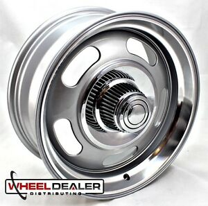 4 17x7 Alum Gray Rev Classic 107 Rally Wheels Chevy Camaro 1967 1968 1969