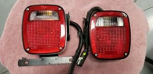 Utility Trailer Tail Lights With Mounting Brackets License Plate Light New