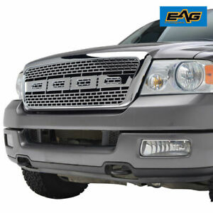 Eag Replacement Grille Chrome Grill Full Upper Raptor For 04 08 Ford F150