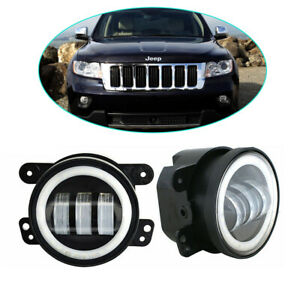 For Jeep Grand Cherokee 2011 2013 Front Bumper 4 Inch Led Halo Fog Light Drl