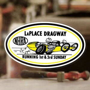 Laplace Dragway Sticker Decal Nhra Hot Rod Drag Racing Blower Vintage 5 25