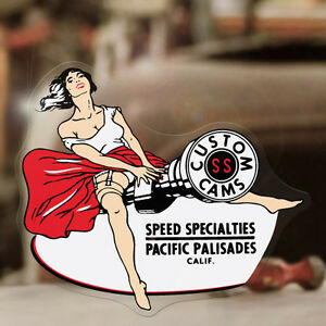 Speed Specialties Sticker Decal Hot Rod Pin Up Pinup Girl Retro Vintage 4 25