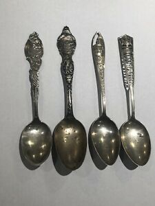 Lot Of 5 Sterling Silver American Cities Collector Spoons