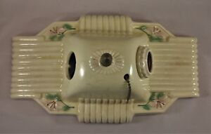 Vintage Double Bulb Floral Porcelain Ceiling Ot Wall Sconce Light Fixture
