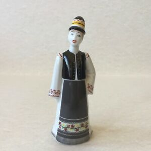 Vintage Hollohaza Porcelain Man Figure In Folk Traditional Dress Made In Hungary
