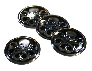 4x Hydra Wheel Hub Center Cap Sticker Decal 2 2 Dome Silver Auto Car
