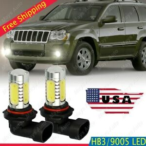 For Jeep Grand Cherokee 99 10 Cob Led Fog Light Conversion Kit 6000k White Bulbs