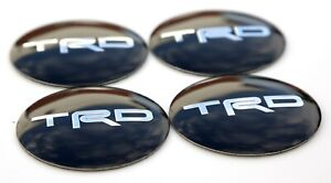 4x Trd Sticker Decal Wheel Cap Sticker 2 20 Diameter Dome Shape