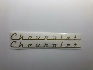 Chevrolet Script Emblem 1 Pair Vinyl Decal Sticker Car Truck Window