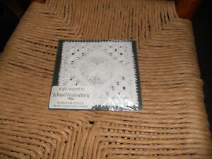 4 Four Genuine Nottingham Lace Coasters In Original Package Warwick Castle