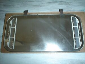 Vintage Sun Visor Mirror W Service And Travel Record Accessory Clips On Visor