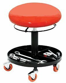 Hydraulic Creeper Seat Mechanic s Padded Garage Tool Tray Car Shop Rolling