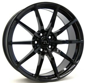 20 Flow Formed Gloss Black S350 15 19 Mustang Wheels Square 20x10 5x114 3 40mm