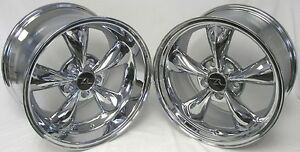17 Chrome Deep Dish Mustang Bullitt Style Wheels 17x9 17x10 5 5x114 3 94 04