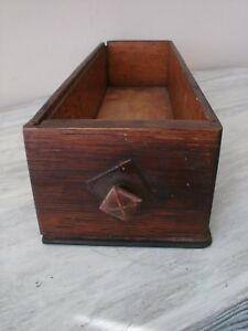 Vintage Treadle Sewing Machine Tiger Oak Wood Cabinet Drawer W Original Pull Vgc